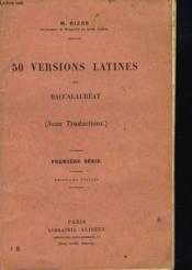 50 Versions Latines De Baccalaureat (Sans Traductions). Premiere Serie. - Couverture - Format classique