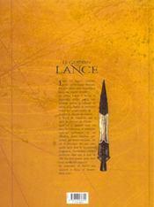 Le gardien de la lance t.1 ; les frères - 4ème de couverture - Format classique