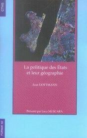 La politique des états et leur géographie - Intérieur - Format classique