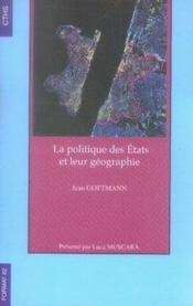 La politique des états et leur géographie - Couverture - Format classique