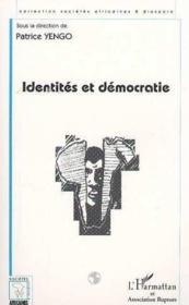 Identités et démocratie - Couverture - Format classique