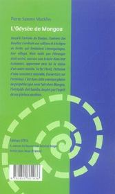 L'odyssée de Mongou - 4ème de couverture - Format classique