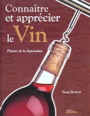 Connaitre et apprecier les bons vins - Intérieur - Format classique