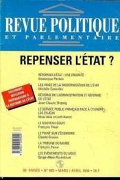 Revue Politique Parlementaire N.982 03/04 96 Repenser Etat - Couverture - Format classique