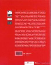 Facadisme Et Identite Urbaine - 4ème de couverture - Format classique