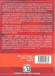 Conflits Et Litiges Du Travail Precaire. Special Jeunes Travailleurs, Interimaires, Saisonniers, Int - 4ème de couverture - Format classique