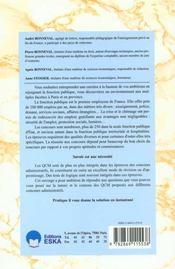 Questionnaire Choix Multiples - 4ème de couverture - Format classique