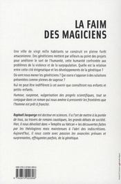La faim des magiciens - 4ème de couverture - Format classique