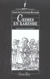 Crimes En Karesme - Couverture - Format classique