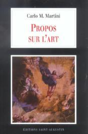 Propos Sur L Art - Couverture - Format classique