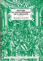 Hist Develpmt Biologie 1 - Couverture - Format classique