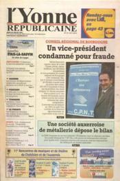 Yonne Republicaine (L') N°171 du 26/07/2001 - Couverture - Format classique