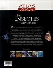 Les insectes et les archnidés - 4ème de couverture - Format classique