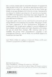 Les Monarchies Francaise Et Espagnole Du Siecle D'Or Au Grand Siecle - 4ème de couverture - Format classique