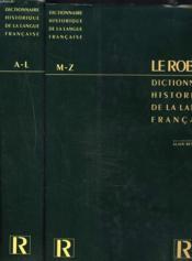 Robert Hist Langue Franc 2vol - Couverture - Format classique