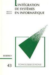 L'integration de systemes en informatiqu technologies de pointe 43 - Couverture - Format classique