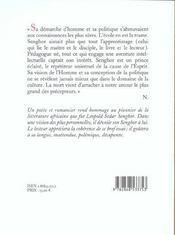 Tombeau De L. S. Senghor - 4ème de couverture - Format classique