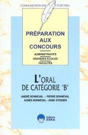 Oral de categorie b (l') - Intérieur - Format classique