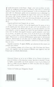 Le Gite Et L'Effroi - 4ème de couverture - Format classique
