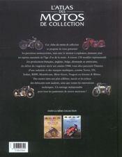 L'Atlas Des Motos De Collection - 4ème de couverture - Format classique