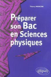 Preparer Son Bac En Sciences Physiques - Intérieur - Format classique