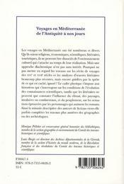 Voyages En Mediterrane ; De L'Antiquite A Nos Jours - 4ème de couverture - Format classique