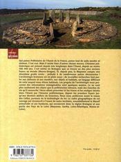 La préhistoire dans l'ouest ; des mammouths aux menhirs ; bretagne, normandie, pays de la loire - 4ème de couverture - Format classique