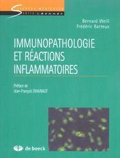 Immunopathologie Et Reactions Inflammatoires - Intérieur - Format classique