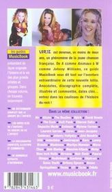 Lorie De A A Z - 4ème de couverture - Format classique