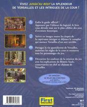 Versailles Complot A La Cour Du Roi Soleil - 4ème de couverture - Format classique