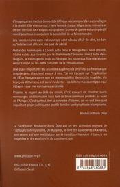 L'afrique au-delà du miroir - 4ème de couverture - Format classique