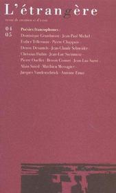 Etrangere 4-5/2003 - Intérieur - Format classique