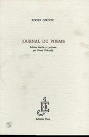 Journal Du Poeme - Couverture - Format classique