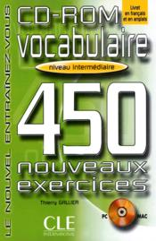 Vente livre :  Cd-rom vocabul 450 exe niv int  - Thierry Gallier