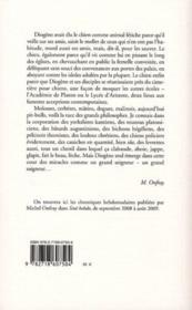 La philosophie féroce t.3 ; philosopher comme un chien - 4ème de couverture - Format classique