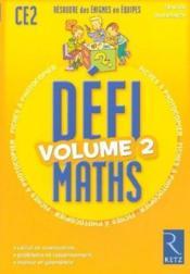 Defi Maths ; Ce2 ; T.2 ; Fiches A Photocopier - Couverture - Format classique