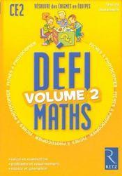Defi Maths ; Ce2 ; T.2 ; Fiches A Photocopier - Intérieur - Format classique