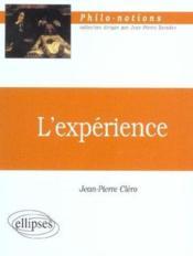 L'Experience - Couverture - Format classique