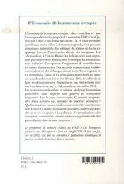 L'Economie De La Zone Non Occupee, 1940-1942 - 4ème de couverture - Format classique