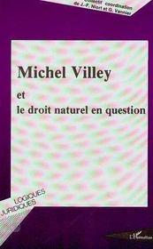 Michel Villey Et Le Droit Naturel En Question - Intérieur - Format classique