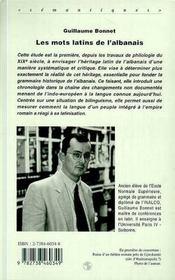 Les Mots Latins De L'Albanais - 4ème de couverture - Format classique