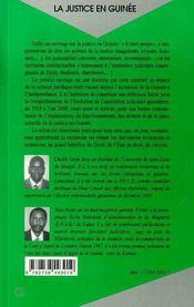 La Justice En Guinee - 4ème de couverture - Format classique