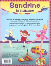Sandrine la ballerine - 4ème de couverture - Format classique