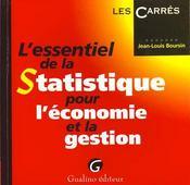 Essentiel de la statistique pour l'economie - Intérieur - Format classique