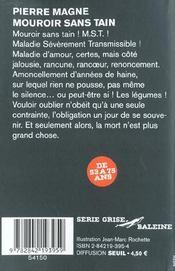 Mouroir Sans Tain - 4ème de couverture - Format classique