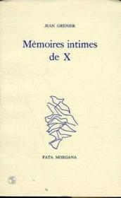 Memoires intimes de x - Couverture - Format classique