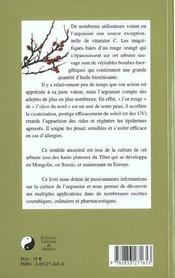 L'Argousier ; Guide Complet Des Soins Naturels A Base De Jus Et D'Huile D'Argousier - 4ème de couverture - Format classique