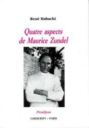 Quatre aspects de Maurice Zundel - Couverture - Format classique
