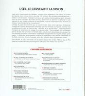 L'Oeil Le Cerveau. - 4ème de couverture - Format classique
