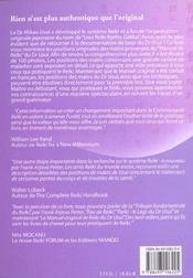 Le manuel original de reiki du docteur mikao usui - 4ème de couverture - Format classique